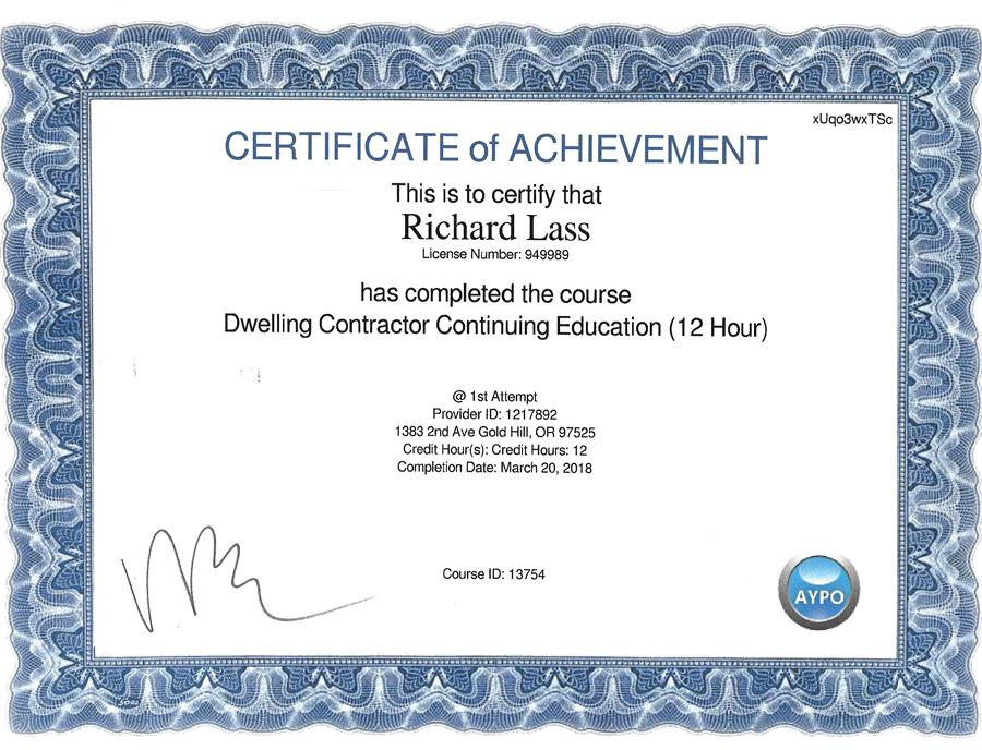 AYPO Certificate